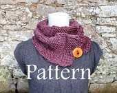 KNITTING PATTERN - Big Softie button scarf - Listing85