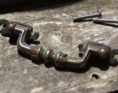 Vintage kitchen DRAWER handle with hardware. For matching DOOR handle see my other listing. Buy 1 or all.