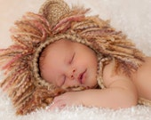 Infants Lion Hat and Diaper Cover