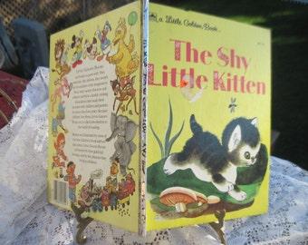 Golden Book The Shy Little Kitten 1974 Hard Cover 302-53