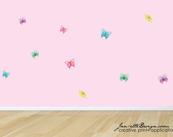 Butterfly Wall Decals, Pastel Butterflies