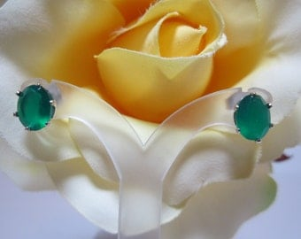 Chrome Chalcedony Earrings