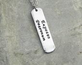 Harry Potters  Expecto Patronum Aluminum Necklace