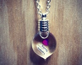 Name on Rice Necklace - Valentines Day Love - Silver Chain