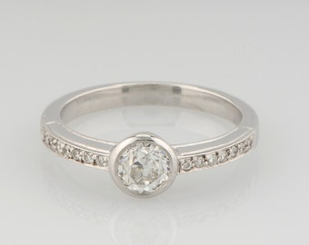 Gorgeous Art Deco style .60 Ct old cut diamond solitaire ring