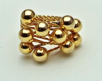 Ring Gold Plated Wirework Adjustable Ring