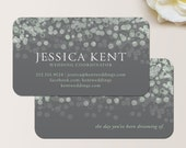 Champagne Bubbles Business Card / Calling Card / Contact Card - Interior Designer, Event Planner, Wedding Planner, Wedding Coordinator