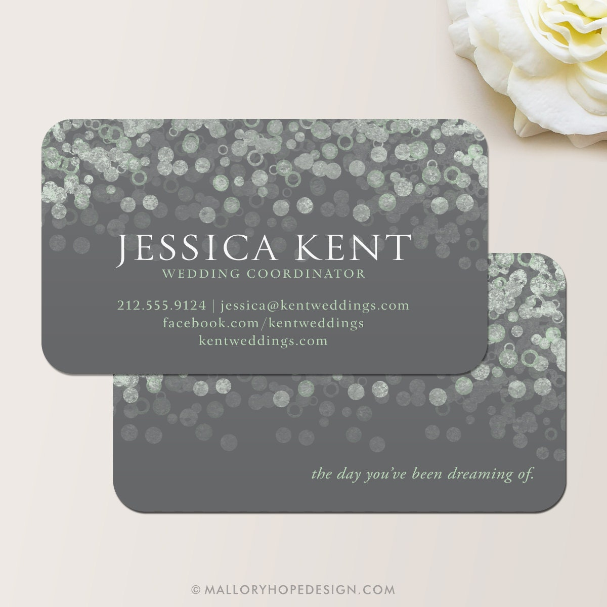 Champagne Bubbles Business Card Calling Contact