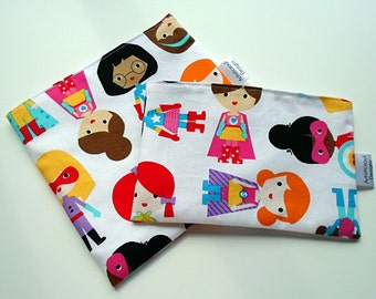 Snack & Sandwich Bag Super Girl Eco-Friendly Reusable