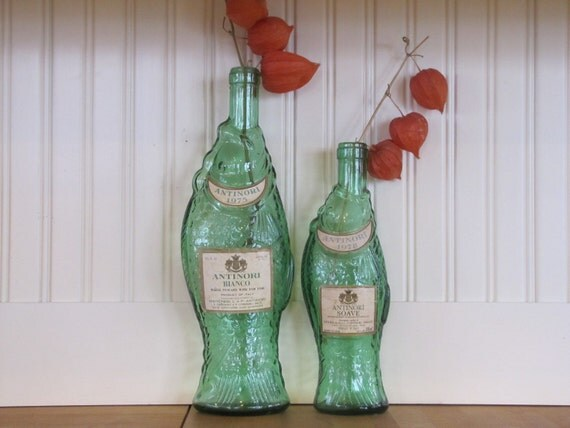 2 vintage fish bottles fish bottle fish bottles by sundaytown for Fish wine bottle