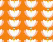 SALE--Lotus Pond--Lotus Drop--Orange--Rae Hoekstra--Certified Organic Cotton--price is per yard