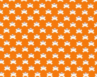 SALE--ORGANIC Lotus Pond--Hopping Along--Orange--Rae Hoekstra--Certified Organic Cotton--price is per yard