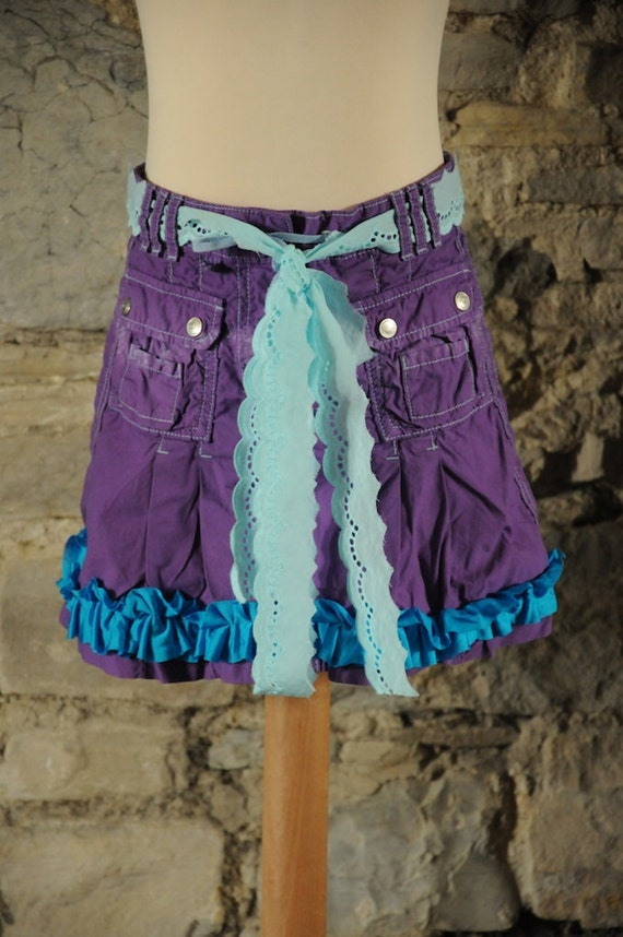 Items similar to Purple mermaid skirt For girlu0026#39;s fairy costume or mermaid costume or party ...