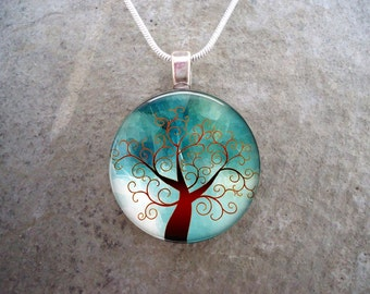 Tree Jewelry - Glass Pendant Necklace - Tree of Life Jewellery - tree 2 - PRE-ORDER