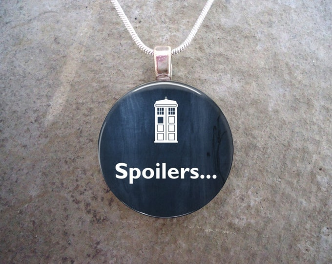 Doctor Who Jewelry - Glass Pendant Necklace - Spoilers ...