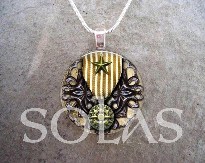 Steampunk Necklace - Glass Pendant Jewelry - Steampunk 1-18 - RETIRING 2017