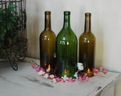 Set of 3 Wine Bottle Hurricanes- 1 Large and 2 Regular Bottles- Perfect for the Table