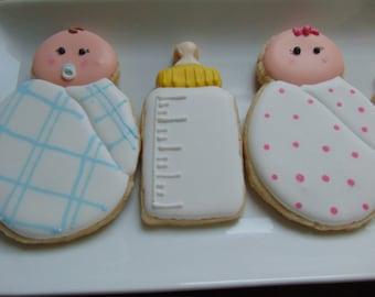 Swaddles & Bottles Sugar Cookies