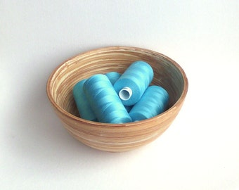 Turquoise sewing thread. Polyester. Coats Moon colour M0224. 1 reel