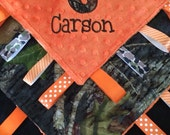 Camo Baby Tag Security Blanket