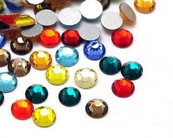 Wholesale 1440pcs Mix Color High Quality Flatback Rhinestone SS12 -8618