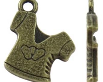 20pc 16x13mm antique bronze finish t-shirt pendants-9023