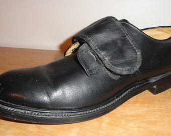 Vintage Black Leather ALDEN Single (Left side) Amputee Shoe Size 9.5 B Made In USA