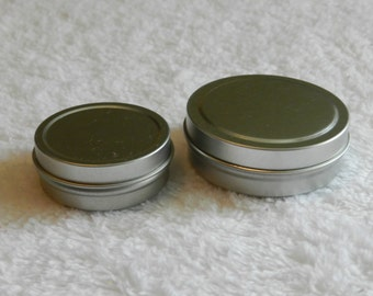 Metal Tins Set of 5 Cosmetic Tins Lip Gloss Containers FREE SHIPPING