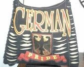 German Pride Upcycled/Recycled Tshirt Cross Body Bag