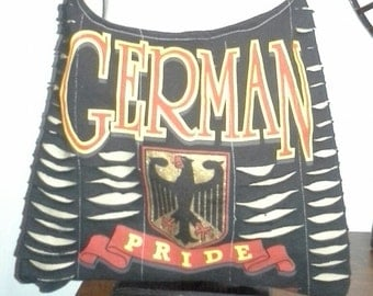 German Pride Upcycled/Recycled Tshirt Cross Body Bag