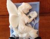 fairy angel handmade goatmilk soap winter white scent