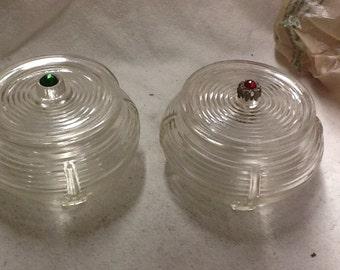 Vintage Lidded Glass Jars