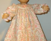 18 Inch American Girl Doll flannel nightgown by Project Funway on Etsy
