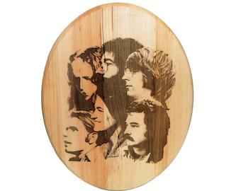 "SALE / LIMITED TIME Handmade wood burned plaque /   ""Mid Seventies"""