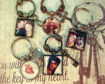 Photo Key Ring with Charm