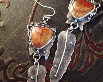 Red river jasper earrings