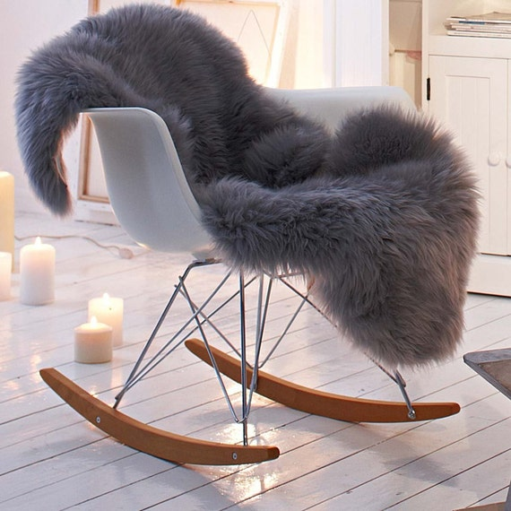 shaggy faux fur animal pelt chair throw covers by nottooshaggy. Black Bedroom Furniture Sets. Home Design Ideas