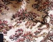 Gorgeous 1970's upholstery weight Oriental chenille velvet