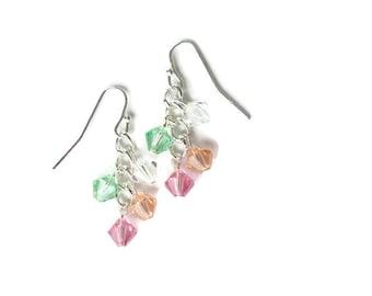 custom birthstone earrings // mothers jewelry
