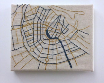 Amsterdam Embroidered Map
