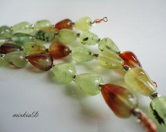 Prehnite, Prehnite Drop, Natural Prehnite Bead,Jewelry Supply, Gemstone Bead, DIY Supply, Craft Supply