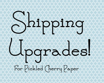 SHIPPING UPGRADES available for your package