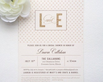 The Lauren • Bridal Shower Invitation | 5x7 | Double Sided