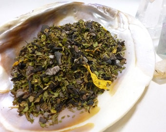 Tea Sample - Girl in the Garden -  black loose leaf tea - Chocolate and mint