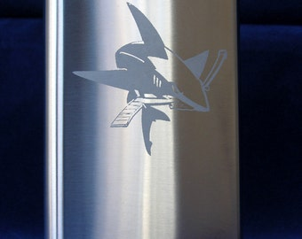 San Jose Sharks 8 oz. Stainless Flask