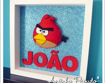 Ungry Bird Frame for Kids Room
