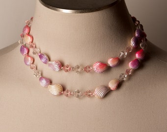Vintage Seashell Double Strand Necklace