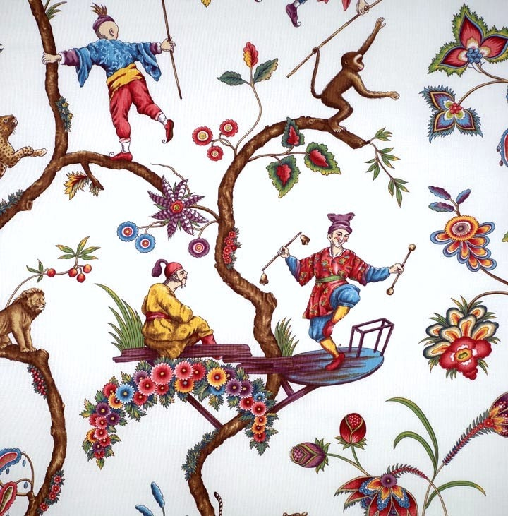 SCALAMANDRE CHINOISE EXOTIQUE Chinoiserie Toile by