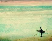 The Endless Summer - 8x10 Surfing beach surf photography print ocean sea surfer beachy nursery home decor waves wall art sunset water aqua