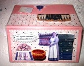 Mrs. Patmore Cook Downton AbbeyScrapbooked Checkbook Cover - with Vinyl Cover